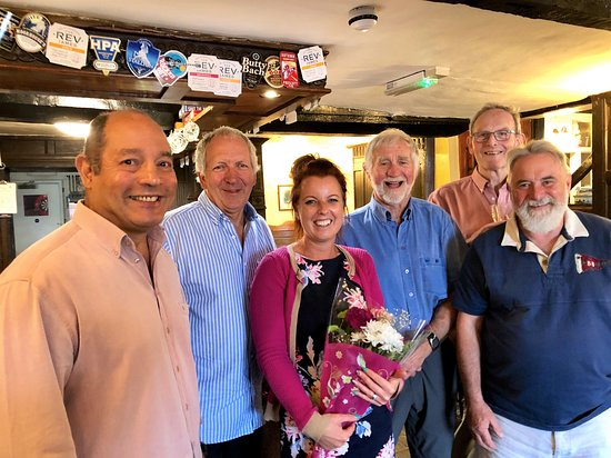 Last day under Sam's excellent managership. Seen here with some of her favourite customers and well wishers. Welcome Claire, Emma and all those who work so hard to make the The Red Lion, Huntley the pub it is.