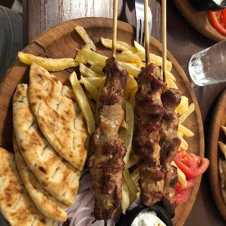 Souvlaki very tasty!
