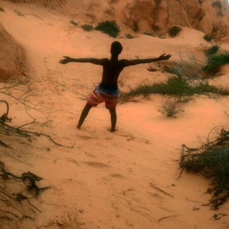 Inhambane Province, Mozambique: Vilankulos red dunes