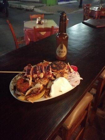 Chicken gyros mix grill
