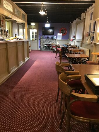 Welbourn, UK : Newly decorated bar.