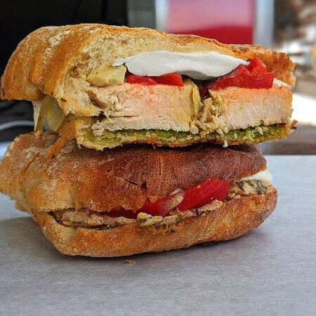 Downieville, CO: Verona Chicken Pesto Sandwich