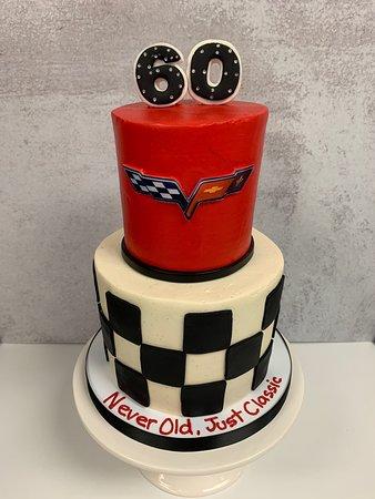 Two Tier Corvette 60th Birthday Cake