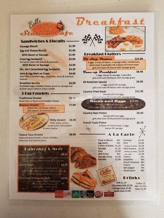 Many, LA: Breakfast Menu