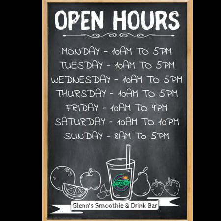 ‪‪Glenn's Smoothie & Drink Bar‬: Opening Hours‬