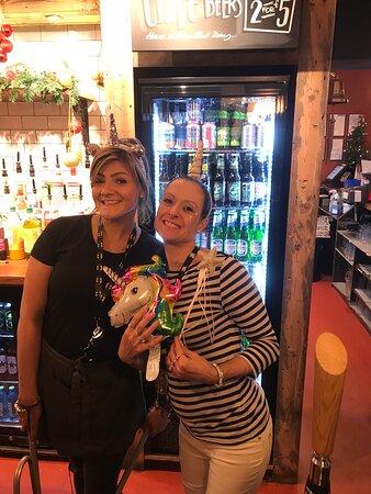 Sarah and Gemma. Always a warm welcome.