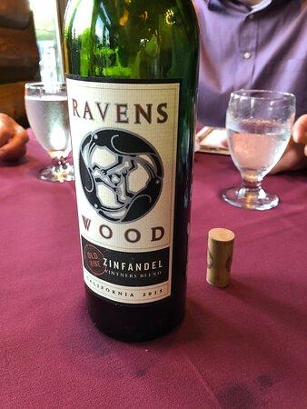 Good wine selection.