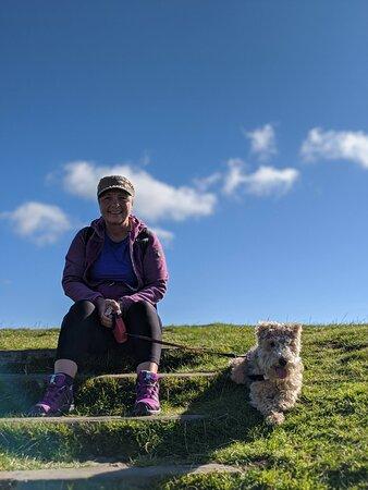 Cwmcarn, UK: At the top of Twmbarlwm
