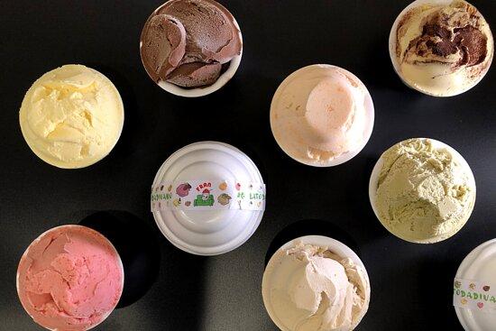 questo è il formato principe del nostro gelato da asporto. Vaschette termiche da 350 grammi minimo. monogusto,
