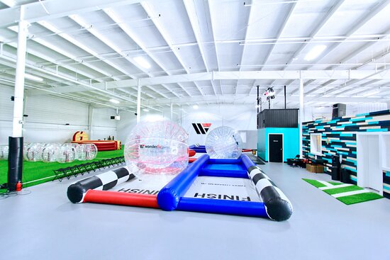 Arbutus, MD: Wonderfly Arena party and event set up with the inflatable hamster track and premium games