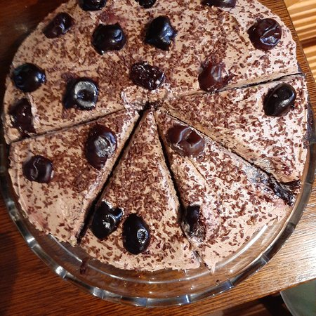 vegan chocolate and cherry cake