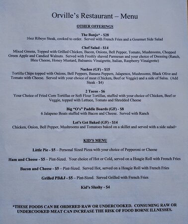 Livermore, CO: Steaks, Burgers, Appetizers, Kids Menu and MORE!