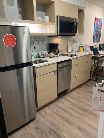 ROOM 404: Kitchen area upon entering front door