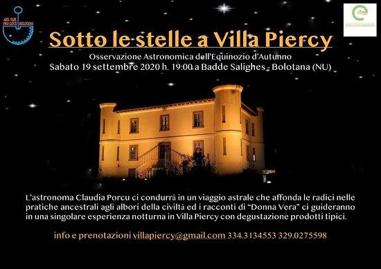 Equinozio a Villa Piercy tra storia, racconti, osservazione degli astri, immersi in una natura incontaminata. Un sogno da vivere.