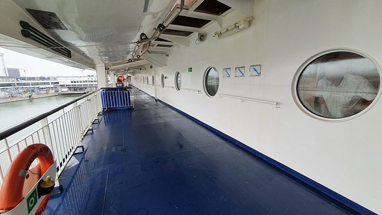 Lifeboat deck and our cabin