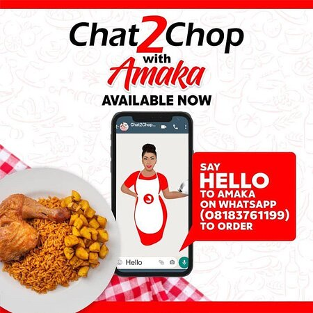 """Штат Лагос, Нигерия: Are you hungry? """"Chat2ChopwithAmaka"""" and get delicious Nigerian and Continental meals delivered you! Free Delivery within Victoria-Island!"""