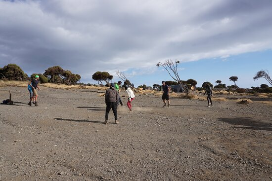 7 Days Machame Route Kilimanjaro Expedition: football match