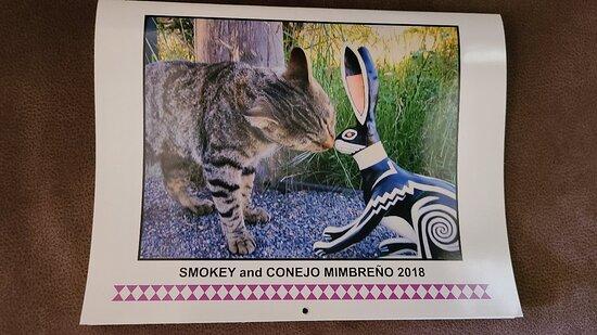 Mimbres, NM: 2018 Wall Calendar of Smokey the cat