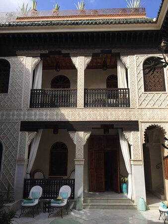 La Sultana Marrakech: View up to Deluxe Suite balcony