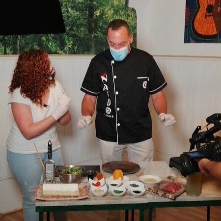 Chef Nando Carrasco con canal Extremadura