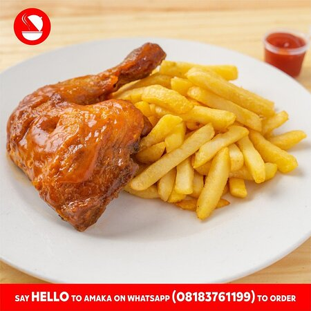 Штат Лагос, Нигерия: Kick start the weekend with Lip-smacking French Fries and Grilled Chicken for Lunch or Dinner at N1,850 only.