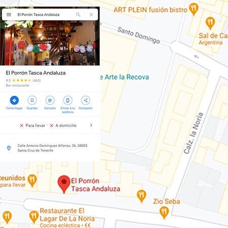 El que se pierda que siga el mapa  📍  http://bit.ly/ComoLlegaralaTasca     #DondeComerEnTenerife #restaurantesTenerife #Tasca #TascaAndaluzar #TascaElPorron #ComerEnTenerife #TurismoTenerife #GoogleMaps #TripAdvisor #ComerenTenrife #CanariasGastronomica #ComidaSaludable #CalledelaNoria #Tenerife #Canarias