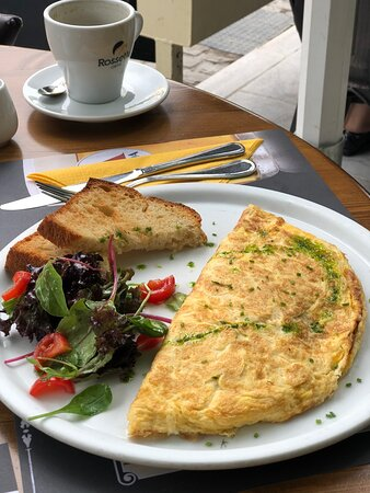 From brunch to evening drinks, this place offers a variety of dishes and they're all very good!  Our cheese platter was only with beef as we don't eat pork.  Service is excellent and top quality food. Will recommend over and over this place