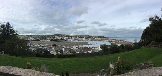 panorama of Teignmouth estuary