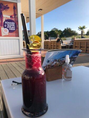 Schöne Strandbar