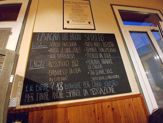 Fosseno, Italy: beveraggi  (e poi c'è la carta dei vini)