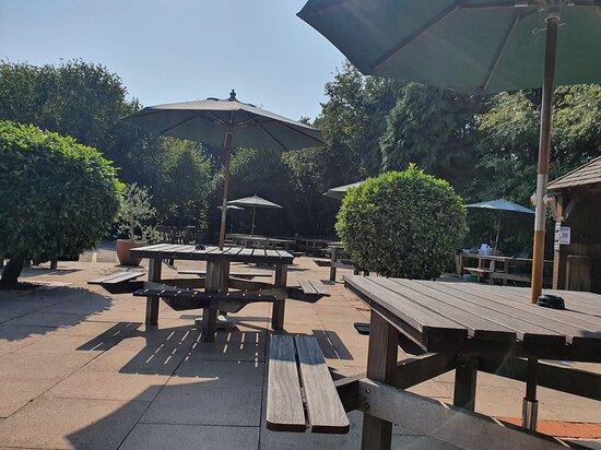 The White Horse: Sunny patio