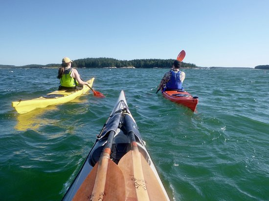 Upwest & Downeast Sea Kayaking: Off to the next island!