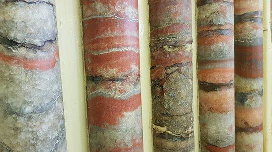 Wittelsheim, France: Carottes de potasse. Collection géologique