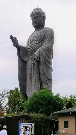 A 120-meter-high Buddha statue made of bronze.