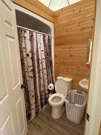 Albany, Kanada: Bathtub/shower combo.
