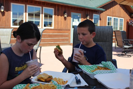 Arlee, MT: Bison burgers with Huckleberry shake.  Great meal.
