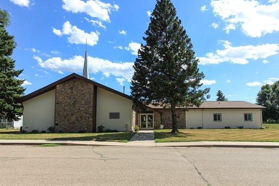 The Church of Jesus Christ of Latter-day Saint Fort Yates North Dakota Meeting House Exterior.