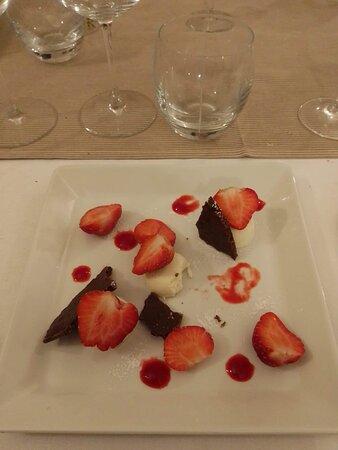 Gasny, Franciaország: Cheesecake fraise revisité