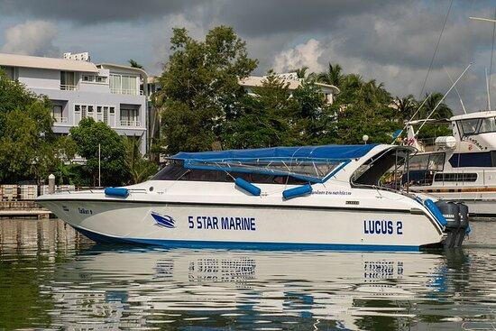 Excursion en bateau privé sur l'île...