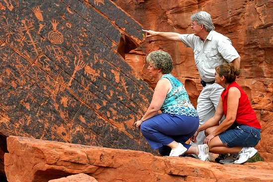Valley of Fire og Lost City Museum Tour...