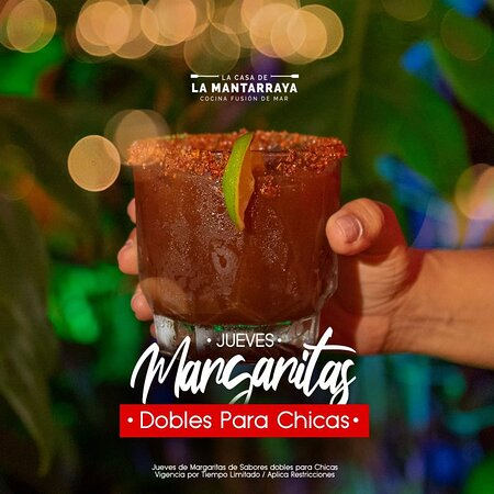 🍹Jueves: Margaritas Dobles para Ellas🍹| Vigencia por Tiempo Limitado / Aplica Restricciones #LaCasaDeLaMantarraya  ¡Ya Estamos Abiertos, Reserva tu Mesa! ☎ (998) 489 5643 | (998) 255 6502 📲 https://wa.me/5219984895643 📍Av. Xpuhil Sur, antes de llegar a la Nichupté.