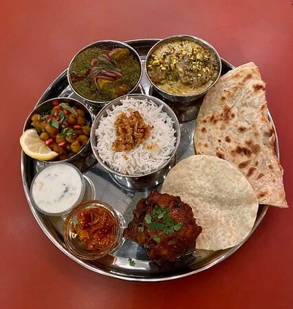 Typical Thali (we took a non vegetarian one)