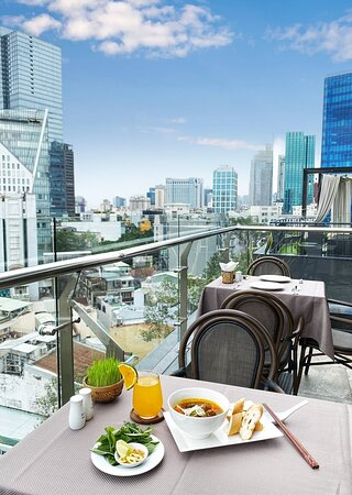 BÚP Sky Lounge & Restaurant, breakfast with a view