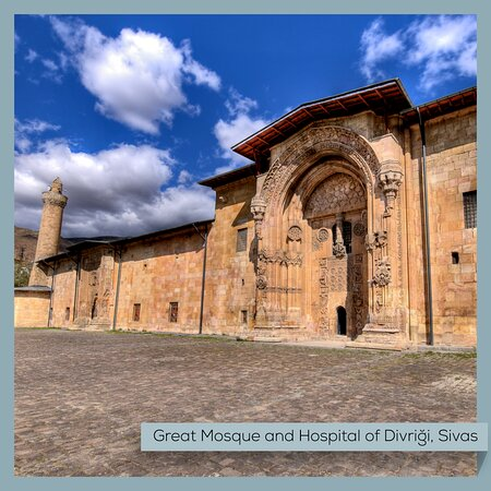 "The Great Mosque and Hospital of Divriği in Sivas is one of the lesser-known entries of Turkey on the World Heritage List, but it's a remarkable site worth seeing in person. UNESCO explains it best: ""A unique artistic achievement, this cultural property in itself represents one of Islamic architecture's most beautiful built spaces.""  #Turkey #Sivas #GreatMosque #Hospital #Divrigi #UNESCO #WorldHeritage #Islamic #Art #Architecture #MuseumFromHome"