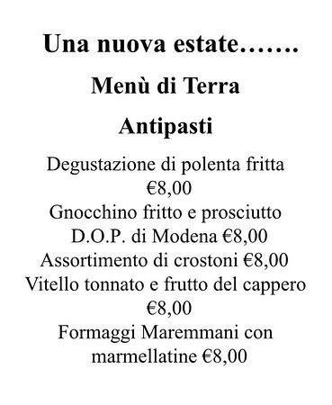 Mulino, Italija: menù