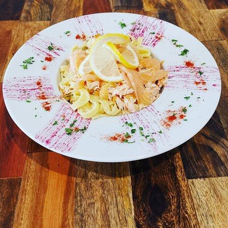 Venez déguster nos Pâtes au Saumon 😋