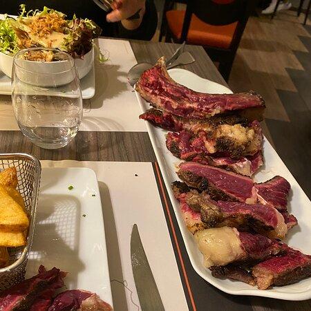 La côte de bœuf = un vrai régal