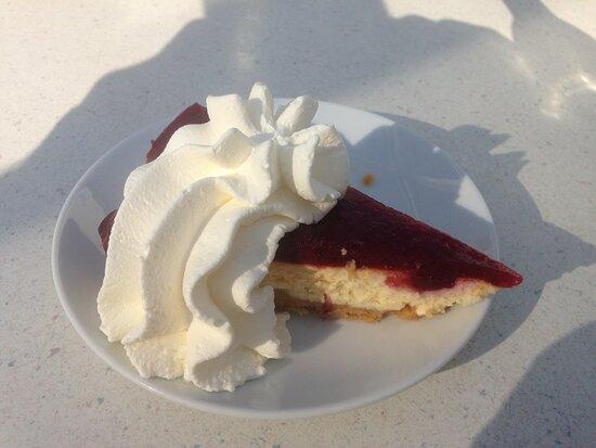 Oosterend, Holland: Het cranberry gebak (met slagroom!)