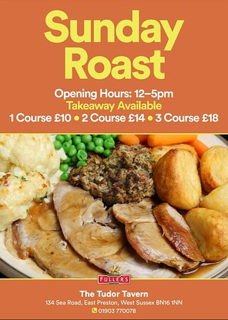 Join us for our fantastic Sunday Roasts, served from 12-5pm.