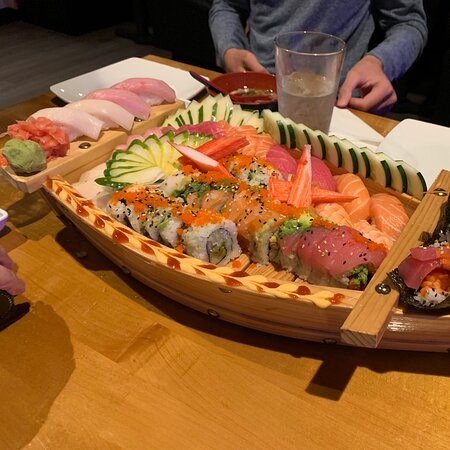 Go for the sushi boat